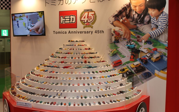 <p>Tomica toy company has its own display to celebrate 45 years of making toy cars.</p>