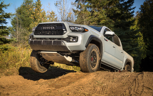 <p>The Tacoma TRD Pro Doublecab with manual transmission is priced at $50,000, the automatic version at $53,295, not including freight.</p>