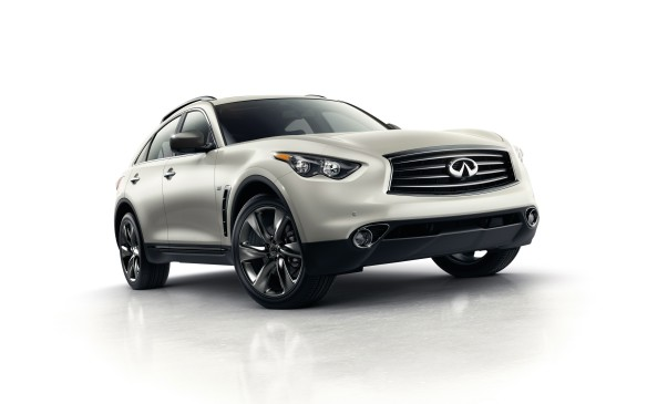 <p>Infiniti's QX70 (formerly called Infiniti FX) was the highest ranked premium midsize SUV, followed by the Lincoln MKX and Porsche Cayenne.</p>