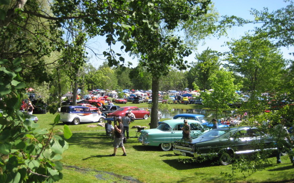 <p>The Fleetwood Country Cruize-in, an automotive spectacle that started simply 15 years ago as a little get-together with a handful of cars and couple of cases of Coca-Cola, continues to draw thousands of vehicles and throngs of spectators each year on the first weekend in June to the sprawling 45-hectare park-like estate of philanthropist – and self-described car guy – Steve Plunkett. The show, held just west of London, Ont., is acknowledged as the largest outdoor auto extravaganza in Canada, although the late custom car king, George Barris, said he's never seen anything like it anywhere on this planet.</p>