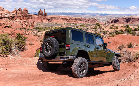 <p>Wrangler now includes a four-door version, the Unlimited, and all Wranglers are available in three different trims that designate different features and capabilities: Sport, Sahara, and Rubicon.</p>