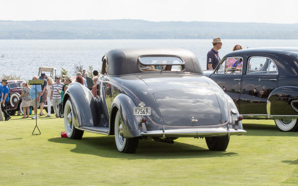 <p>On the other side of the field, this1937 Lincoln K LeBaron Coupe was a strong contender in the American Classics - Closed class.</p>
