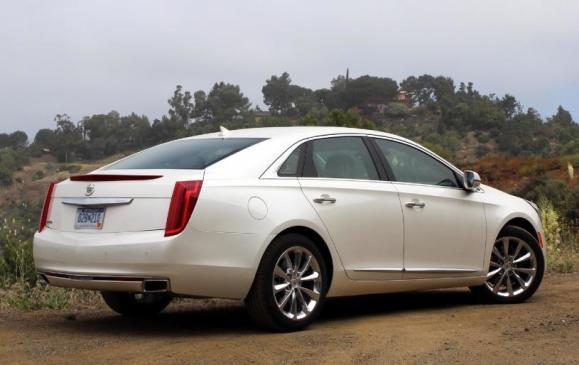 2013 Cadillac XTS - rear 3/4 view