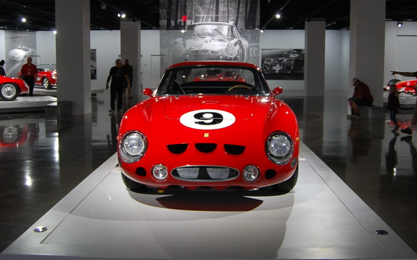<p>Introduced for the 1963 season, the LMB (Le Mans Berlinetta) was one of just four cars constructed for the new 4.0-liter prototype class. The design blended the bodywork of the production 250 GT Berlinetta Lusso with elements from the competition 250 GTO, including the distinctiv triple cutouts on the nose.</p>