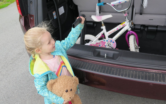 <p>Further proof members of the design team have children is the provision of a vacuum cleaner built into the rear quarter panel. With a hose long enough to reach anywhere in the vehicle or to adjacent ones.</p>