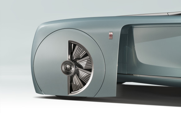 <p>The Rolls-Royce of the future will also have astonishing wheels – or at least, this particular conception will. These 29-inch wheels will be part of the theatre of the passing car, designed to impress and captivate onlookers.</p>