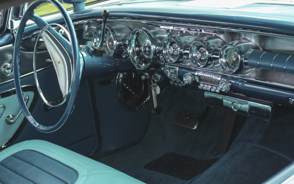 <p>The Parisienne's colourful interior and chrome-laden instrument panel were characteristic of the period.</p>