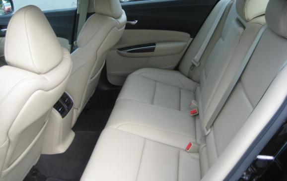 2015 Acura TLX - rear seats