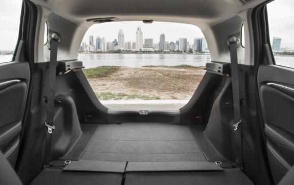 2015 Honda Fit - cargo area seatbacks folded