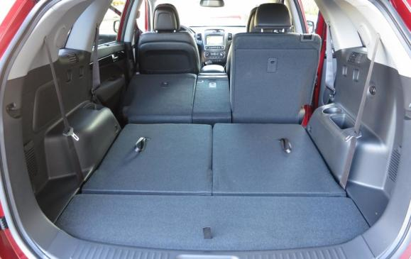 2014 Kia Sorento - cargo space seatbacks folded