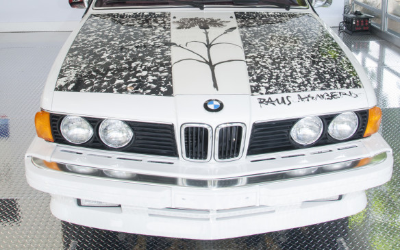 <p>The sixth BMW Art Car, a 1986 BMW 635 CSi,  was created by New York City painter and sculptor Robert Rauschenberg. He was awarded the National Medal of Arts in 1993 and the Leonardo da Vinci World Award of Arts in 1995 in recognition of his more than 40 years making art.</p>