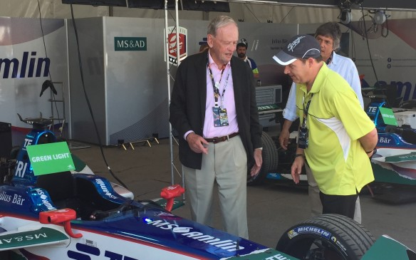 <p>Outside of Mayor Coderre, former Canadian Prime Minister Jean Chretien arrived on day two of the race weekend. He was treated to a walkaround the paddock area with an exclusive look at some of the team's race cars.</p>