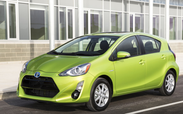 "<ol> <li><strong> Toyota Prius C –</strong> Here's the top ""conventional"" gas-electric hybrid in the rankings, one you're obliged to drive to a gas station from time to time to fill up with dino juice. Since it's built on Toyota's Yaris platform, the Prius C is uncommonly frugal. It's not hard to attain better than 60 mpg (4.7 litres/100 km) in city driving. That's because it uses an Atkinson-cycle 73-hp, 1.5-L four-cylinder gasoline engine in tandem with a 60-hp electric motor and a continuously variable automatic transmission (CVT).</li> </ol>"