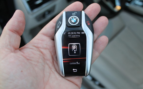 <p><strong></strong>However, the 7 Series is the first production car to park itself, with the driver out of the vehicle. Position the big BMW in front of a tight parking space, get out and stand next to it, then press a button on the key fob. The car will inch its way in and stop automatically.</p>