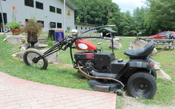 <p>Some are just wacky, like this lawn-mower trike.</p>