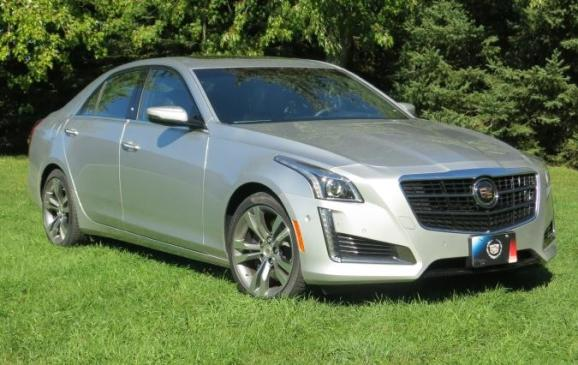 2014 Cadillac CTS - front 3/4 view
