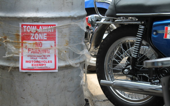 <p>It can be difficult to find a parking space, and that's just for a motorcycle – there are no cars.</p>