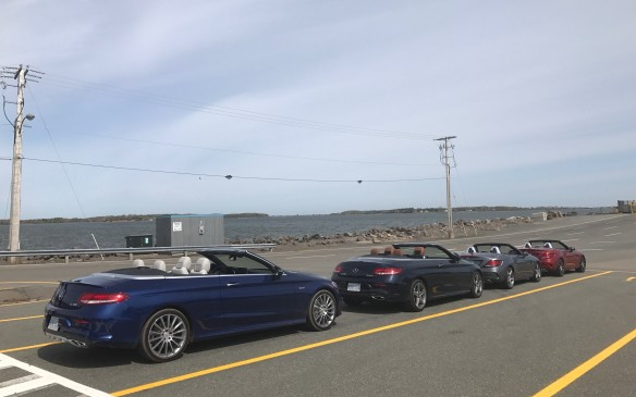 <p>There were four cars available for us to swap around, all of them convertibles, and we arranged the various swaps while we waited for the ferry to take us over to Prince Edward Island.</p>
