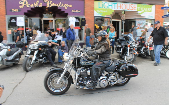 <p>By about 5 PM, the riders who weren't staying in town started to leave.</p>