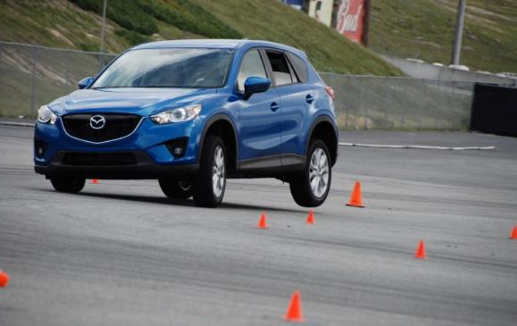 2012 Mazda CX-5 - front 3/4 motion on track
