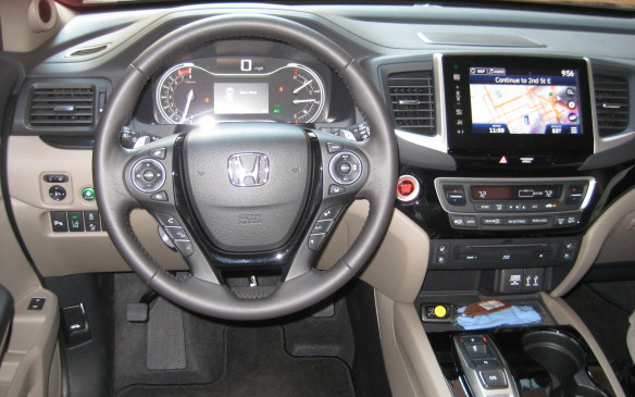 <p>The audio and navigation systems have been upgraded significantly on the 2016 Pilot. The base audio package is a 225-watt system with seven speakers, including a subwoofer, while a premium 540-watt system is available. It pumps out the sound through 10 speakers, including a subwoofer.</p>