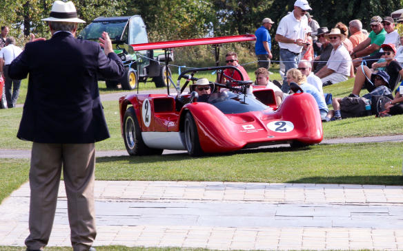 <p>A crowd favourite, not least for its engine noise, was this 1965 Chinook Mk 5 CanAm race car, built in Toronto by the Fejer brothers.</p>