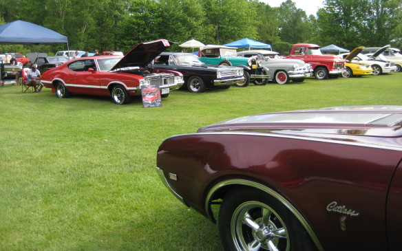 <p>The Fleetwood show is an eclectic assortment of vehicles. As this picture shows, it's not uncommon to find muscle cars and an old classic sitting door to door, with perhaps a restored pickup truck in the line as well. Show-goers will find custom cars and hot rods, antiques and classics, muscle cars and sports cars of every vintage. It's safe to say you'll find plenty to catch your eye, regardless of your automotive interests. Here are a few of the vehicles that caught my attention.</p>
