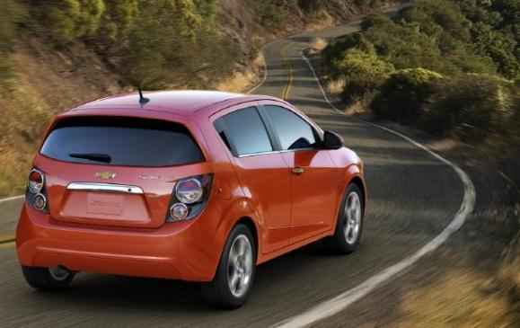 2012 Chevrolet Sonic - rear 3/4 motion
