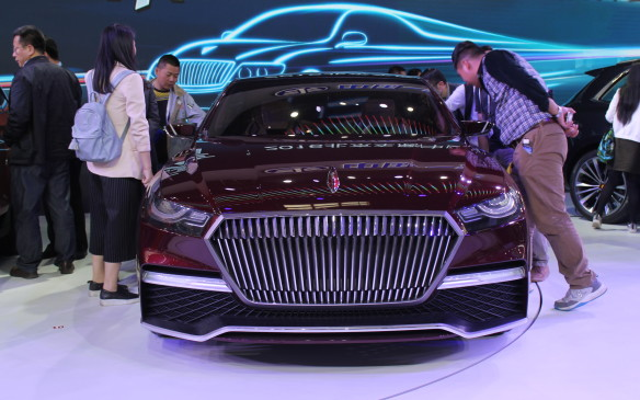 <p>Some of the cars needed explaining, too, like this B Concept limo from Chinese maker Besturn.</p>