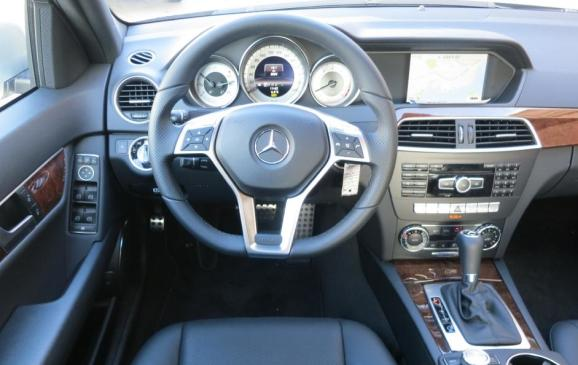 2013 Mercedes-Benz C300 4Matic - steering wheel and instrument panel