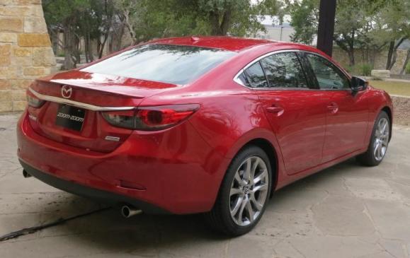 2014 Mazda6 - rear 3/4 view