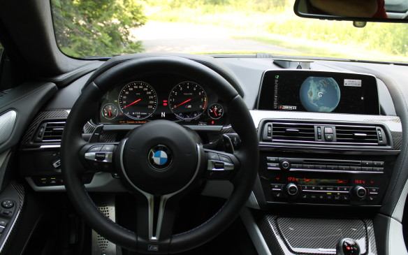 <p>It can be a bit intimidating behind the wheel of the M6, with so many controls and choices of driving mode: economical for the highway, sporty for fun driving, and Sport  for the Tail of the Dragon.</p>