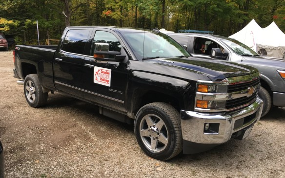 <p>The Chevrolet Silverado LTZ 2500 4WD Crew Cab ($84,355 as tested) was powered by a 6.6-litre V-8 Duramax diesel coupled to a six-speed Allison automatic transmission. Like the Ram, the Chevy felt quite stable with the 10,000-pound trailer load hitched to its tail, although there did seem to be a bit more bounce than its rival. The interior was spacious with seats that felt like they'd be quite comfortable on a long road trip. The gauge layout was the best of the entries in its category, with good-sized analog gauges that were readily readable. The Silverado 2500 joined the Titan XD in the category's runner-up spot, each earning 74.9%.   </p>