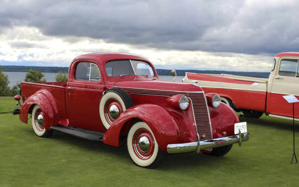 <p>This 1937 Studebaker Coupe Express impressed show-goers in the Vintage Pickup class. Arguably, it was the spiritual forerunner of Ford Rancheros and Chevrolet El Caminos to come.</p>