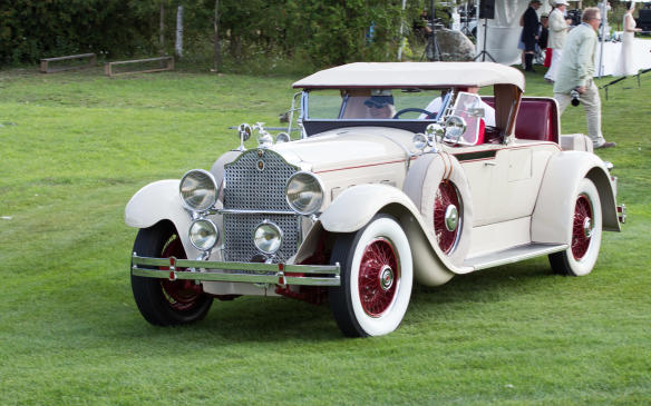 <p>The class winner was this immaculate1929 Packard Super Eight Roadster.</p>