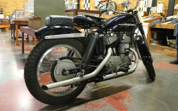 <p>In 1953, this very rare Harley KRM flathead was the predecessor to the Sportster.</p>