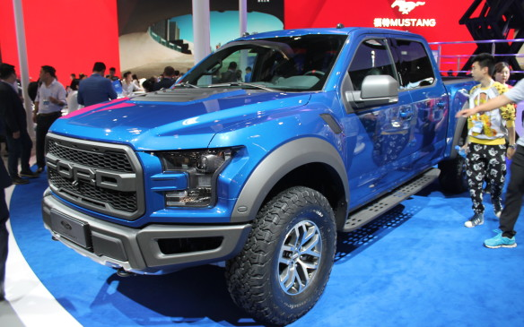 <p>Not everything was bigger and better, though. Ford debuted a Chinese edition of its F-150 Raptor that's powered by a 3.5L V-6 Ecoboost engine.</p>