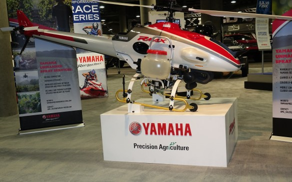 <p>It's not a car - not even close. But hey, it was at the auto show. This tiny, helicopter-like, remote-control Precision Agriculture drone helps farmers spray their fields in a much less costly and risky manner than with traditional 'crop duster' planes. It shows the amazing range and versatility of Japanese manufacturer Yamaha, from pianos, motorcycles and fishing boats to the shrieking V-10 engine that powered the iconic Lexus LF-A exotic sports car.</p>