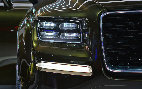 <p><strong></strong>This distinctive quad light headlamp belongs to the equally distinctively designed Kia Telluride concept. While it would be a refreshing change to see such a uniquely different addition to the large SUV segment, Kia has made it clear this is not a concept intended for production.</p>