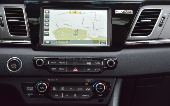 <p>The Niro treats you to the latest eight-inch UVO LCD infotainment system with the SX trim. The other trims feature a seven-inch LCD version. The system is easy to use and reacts fast to user inputs. To save some money, consumers could go down a few trim levels and use Apple Car Play and Android Auto for navigation without having to pay a premium for a built-in system.</p>