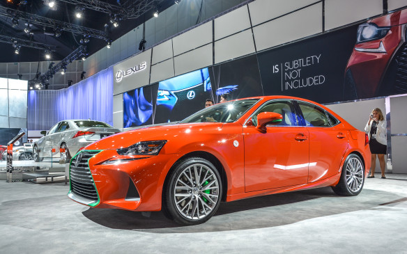 <p>The Lexus IS has been painted to mimic a bottle of Huy Fong Foods Sriracha laying on its side. Sriracha hot sauce has gone from relative obscurity to a foodie cultural icon that's now become as commonplace and recognizable as any other product on the market.</p>