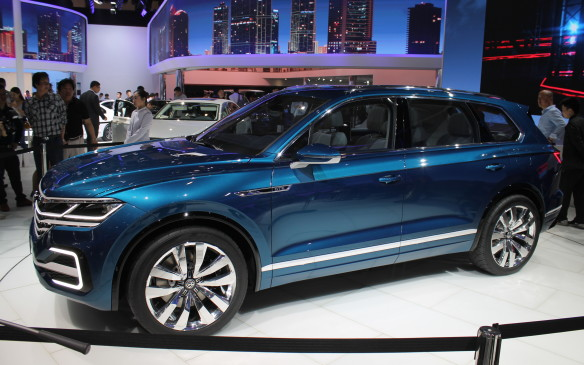 <p>Here in China, sales of SUVs grew 52% last year. Volkswagen used the show to debut a plug-in hybrid concept that demonstrates the design of next year's new Touareg.</p>
