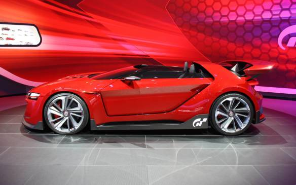 <p>The GTI Roadster Concept has its passengers sitting in race shell seats and under a dual monocoque made out of carbon fibre. It's powered by a 503-hp 3.0-litre turbo-V-6 engine that's matched to a seven-speed DCT transmission that and it's said to perform a 0-100 km/h run in just 3.6 seconds with a maximum speed of 309 km/h. The concept is set up as an all-wheel drive car that sits on top of 20-inch wheels.</p>