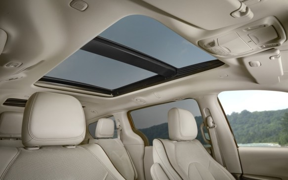 <p>One of the first things you notice when riding in the 2017 Pacifica is the visibility allowed by copious amounts of glass. The side windows are not only wide, but tall. The available sunroof is made up of three panels spanning all three rows of seats. The problem with so much glass can be bright, hot, blinding sun – but the Pacifica comes with pull-up shades for those big side windows and an electric sliding shade for the sunroof.</p>