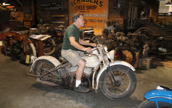 <p>Almost all the bikes are in running order and Dale rides them regularly.</p>