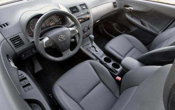 2013 Toyota Corolla - front seats and instrument panel;