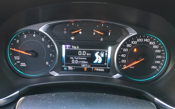 <p>Fuel consumption ratings for the 1.5L turbo with front-wheel drive are 9.2 L/100 km in the city, 7.3 on the highway and 8.3 combined; with all-wheel drive, they're 9.8 city, 7.9 highway and 8.9 combined. In a 103-kilometre stint of mainly highway driving during my test drive, the base engine in the Equinox LT with all-wheel drive posted an average consumption of 7.9 litres/100 km – bang on the posted data.</p>