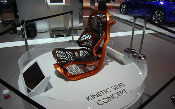 <p>So Lexus, designed a seat to move kinetically with its occupant.  As a concept.  The seat is supposed to help stabilise head movement, keeping the field of vision steady for its occupant, in turn improving comfort and ease of driving.  Don't you just want to sit in it?  Especially after all that walking around the auto show, in search of hidden gems.</p>