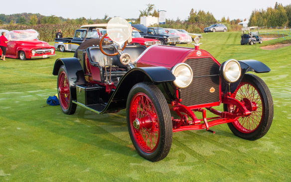 <p>Equally exotic but from an earlier era was this class-winning 1915 Stutz Bearcat, arguably one of the very first American sports cars.</p>