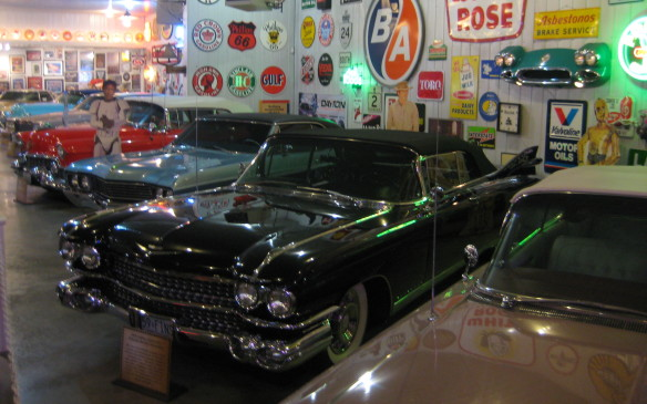 <p>In addition to the eclectic array of vehicles on display, Plunkett's own collection is always a huge attraction. Two museums featuring vintage Cadillacs dating back to 1907 are opened for public viewing.</p>